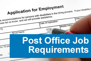 post office job requirements